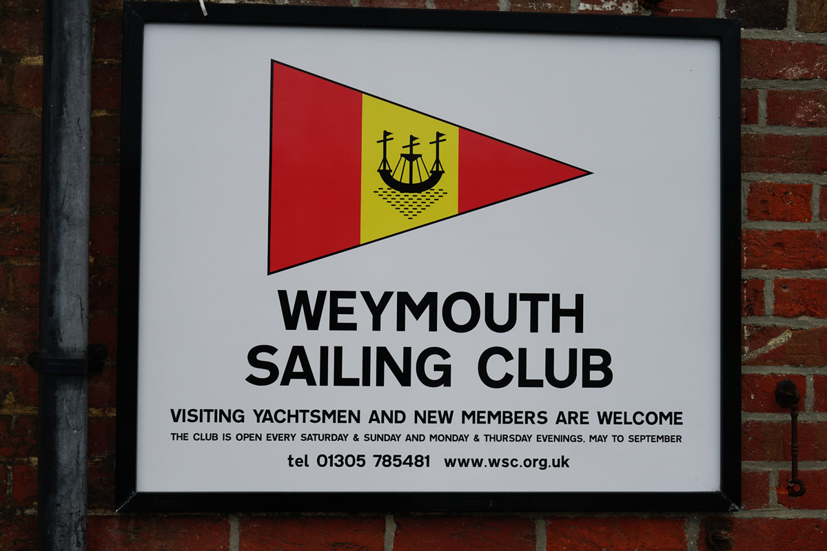 Weymouth sailing club sign